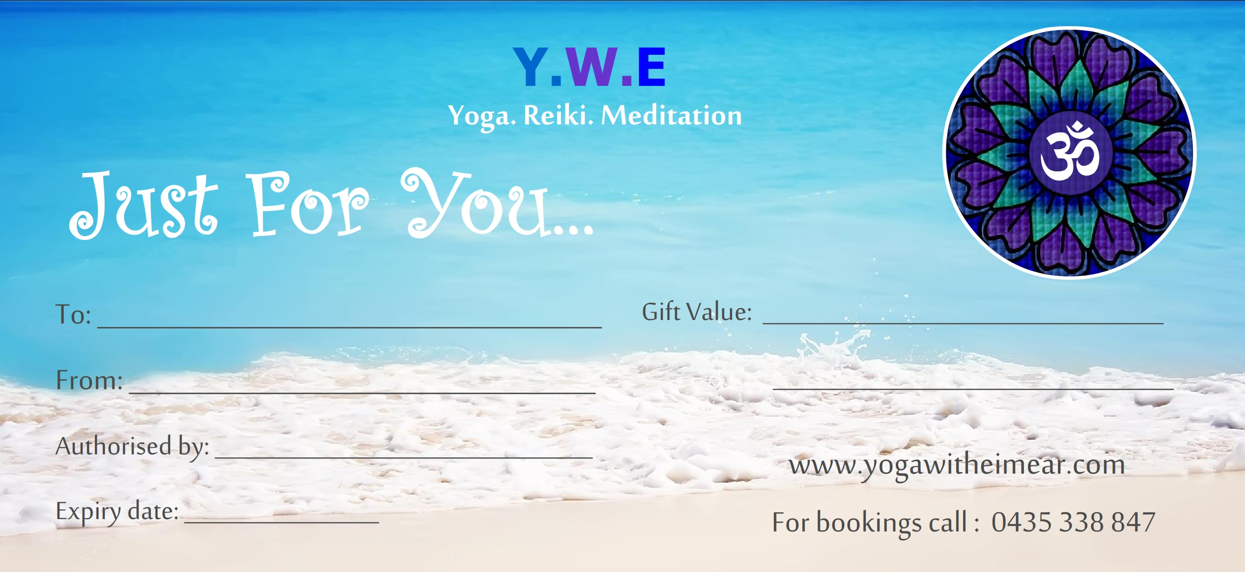Adelaide Therapeutic Yoga Gift Vouchers. Healing Yoga